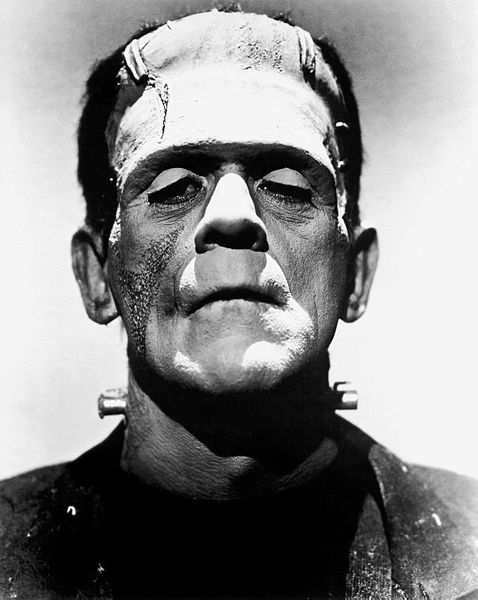 Boris Karloff com a Frankenstein